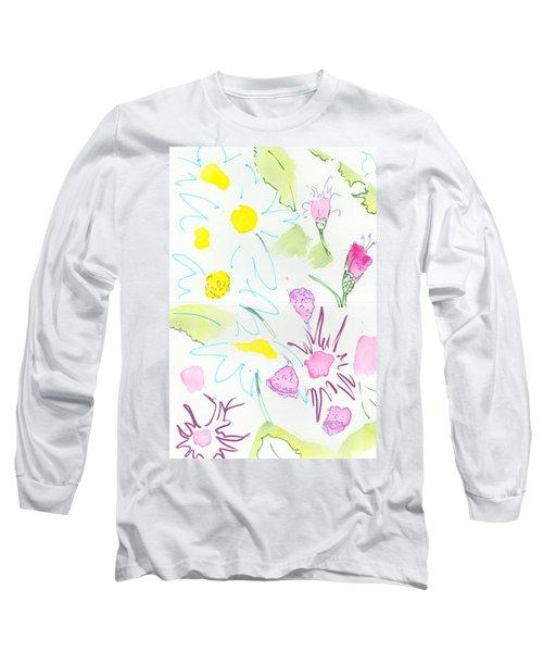 Wild Daisies Pattern Long Sleeve T-Shirt