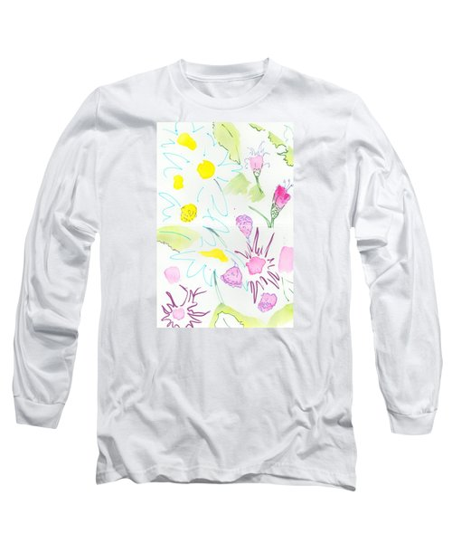 Wild Daisies Pattern Long Sleeve T-Shirt