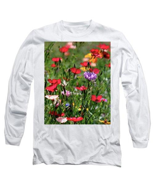 Wild Flower Meadow  Long Sleeve T-Shirt
