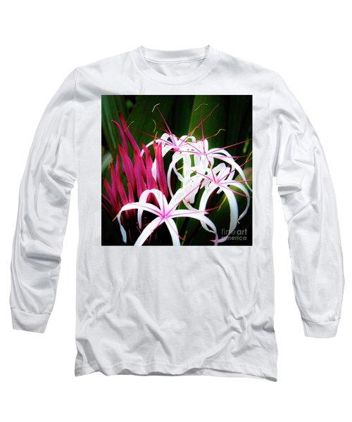 Wild Flowers In Hawaii Long Sleeve T-Shirt