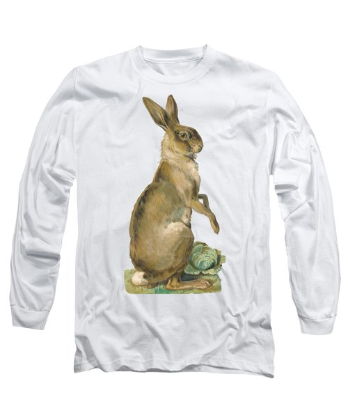Long Sleeve T-Shirt featuring the digital art Wild Hare by ReInVintaged