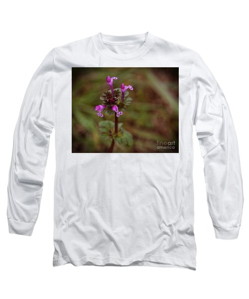 Wild Henbit Flower Loganville Georgia Long Sleeve T-Shirt