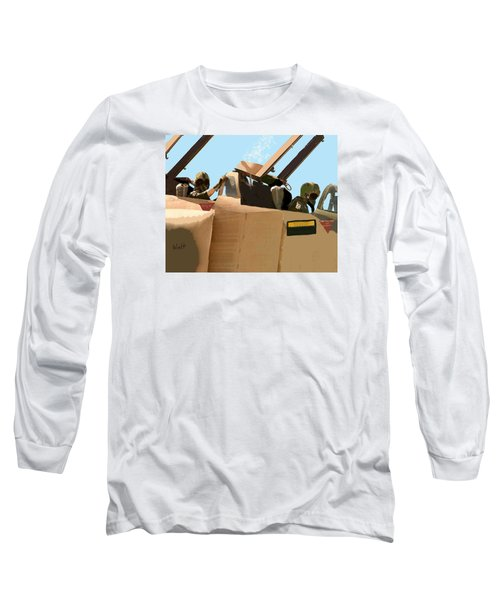 Long Sleeve T-Shirt featuring the digital art Wild Weasels by Walter Chamberlain
