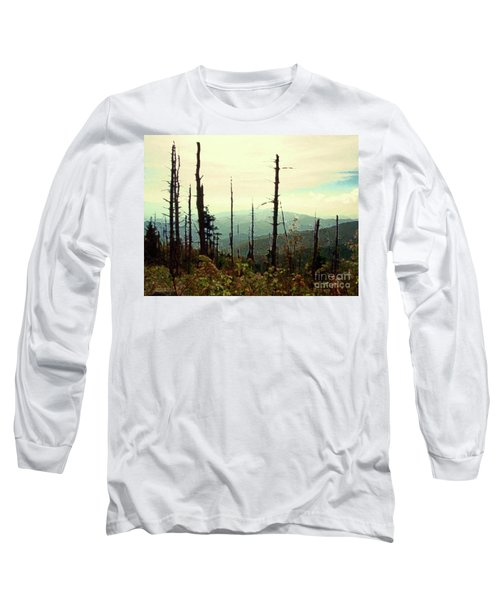 Long Sleeve T-Shirt featuring the mixed media Wildfire by Desiree Paquette