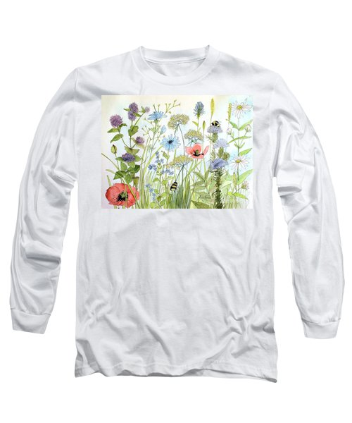Wildflower And Bees Long Sleeve T-Shirt