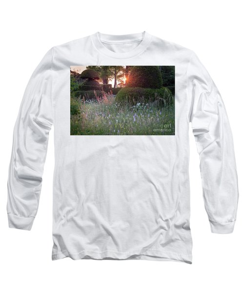 Wildflower Meadow At Sunset, Great Dixter Long Sleeve T-Shirt