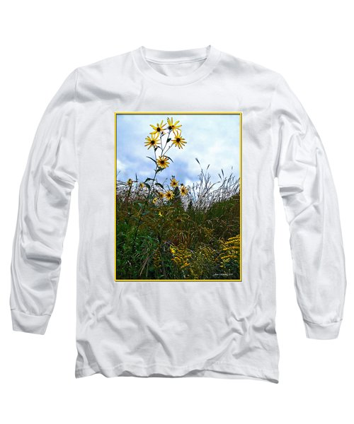 Long Sleeve T-Shirt featuring the photograph Wildflowers And Mentor Marsh by Joan  Minchak