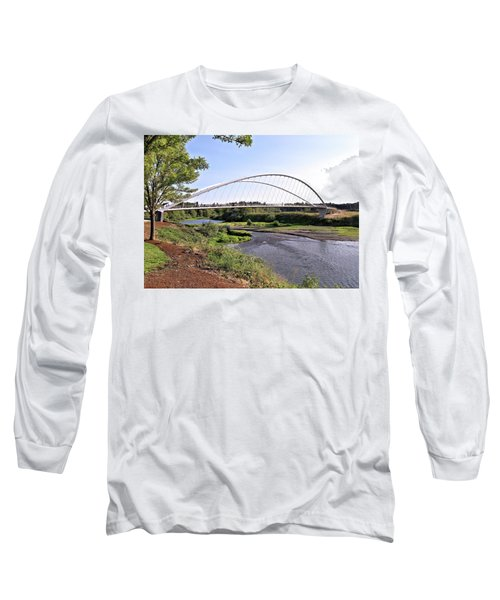 Willamette Pedestrian Bridge Long Sleeve T-Shirt
