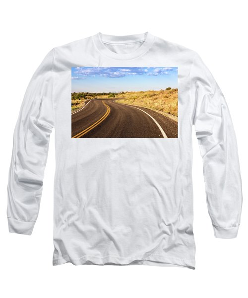 Winding Desert Road At Sunset Long Sleeve T-Shirt