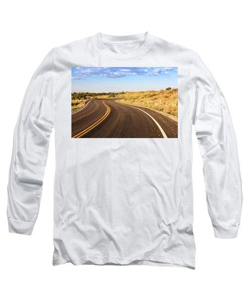 Winding Desert Road At Sunset Long Sleeve T-Shirt