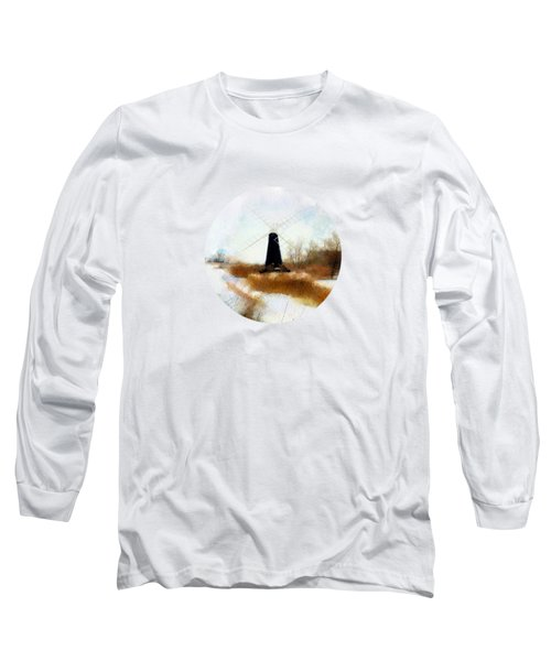 Windmill In The Snow Long Sleeve T-Shirt