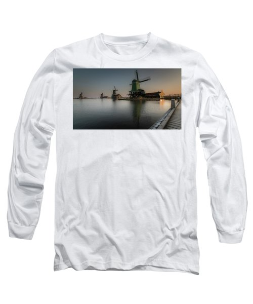 Windmill Sunrise Long Sleeve T-Shirt