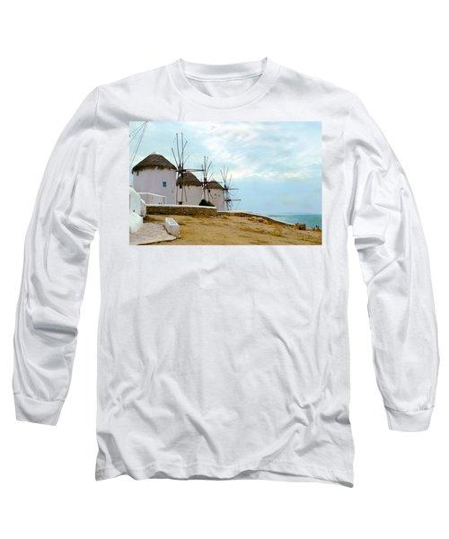 Windmills Of Mykonos I Long Sleeve T-Shirt