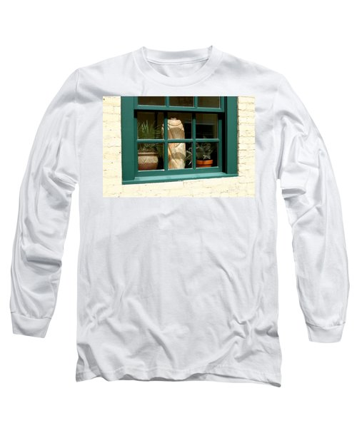Long Sleeve T-Shirt featuring the photograph Window At Sanders Resturant by Steve Augustin