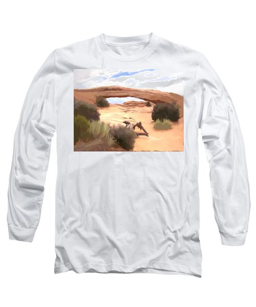 Long Sleeve T-Shirt featuring the digital art Window On The Valley by Gary Baird