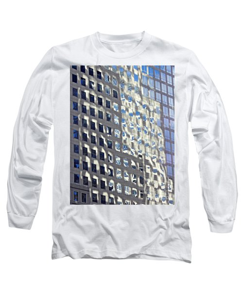 Long Sleeve T-Shirt featuring the photograph Windows Of 2 World Financial Center 2 by Sarah Loft