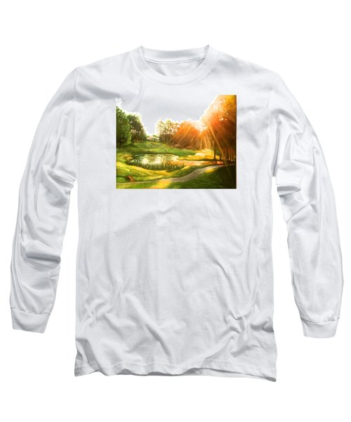 Windstone 13th Green Long Sleeve T-Shirt by Janet McGrath