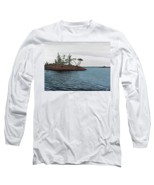 Windswept Island Georgian Bay Long Sleeve T-Shirt