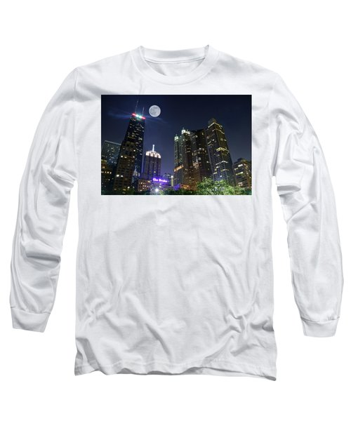 Windy City Long Sleeve T-Shirt by Frozen in Time Fine Art Photography