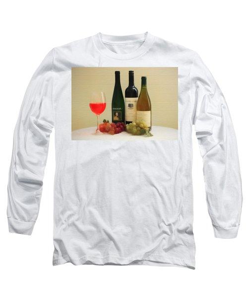 Wine Display Barn Door  Long Sleeve T-Shirt by Dan Sproul