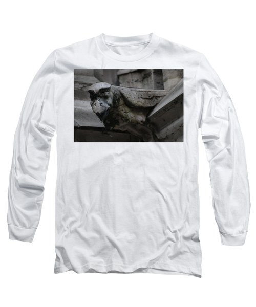 Long Sleeve T-Shirt featuring the photograph Winged Gargoyle by Christopher Kirby
