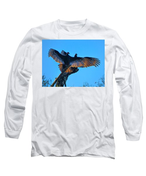 Wings Of Gold Long Sleeve T-Shirt by Kimo Fernandez
