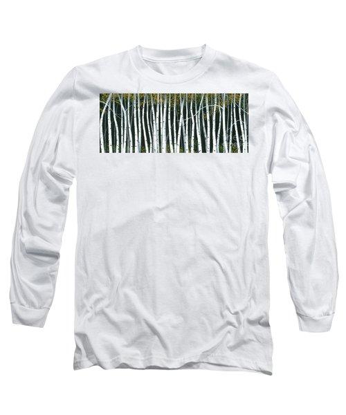 Winter Aspen 3 Long Sleeve T-Shirt by Michael Swanson