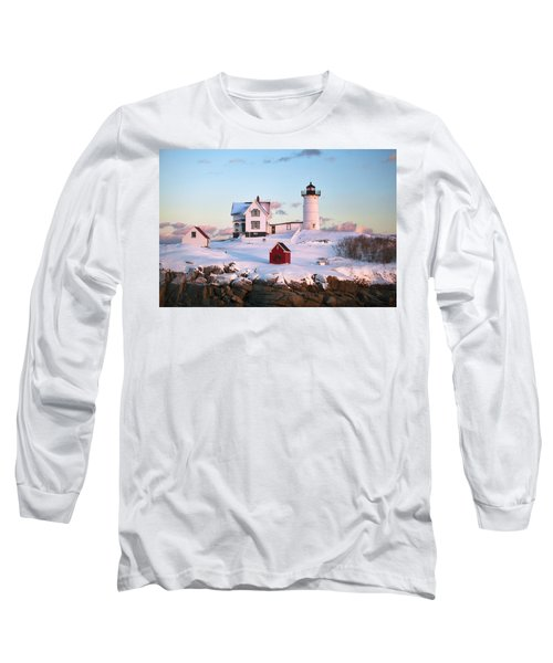 Winter At Nubble Long Sleeve T-Shirt