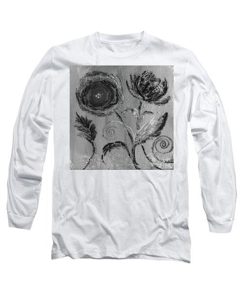 Long Sleeve T-Shirt featuring the digital art Winter Blooms IIi by Robin Maria Pedrero