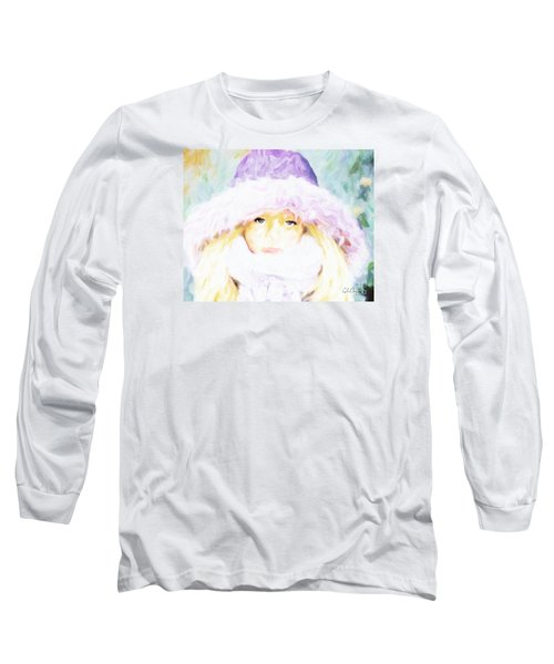 Long Sleeve T-Shirt featuring the painting Winter  by Chris Armytage