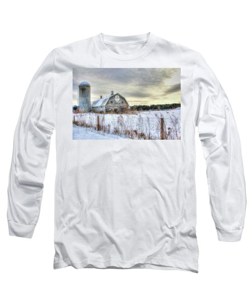 Long Sleeve T-Shirt featuring the digital art Winter Days In Vermont by Sharon Batdorf