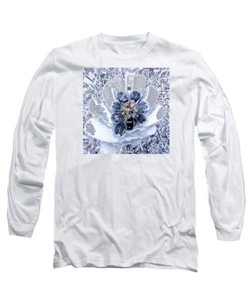 Winter Flower 2 Long Sleeve T-Shirt by Ron Bissett