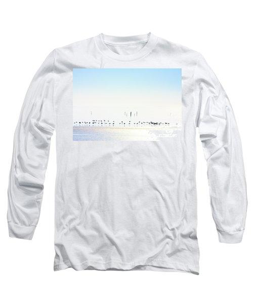 Winter Geese Frozen Ice Long Sleeve T-Shirt