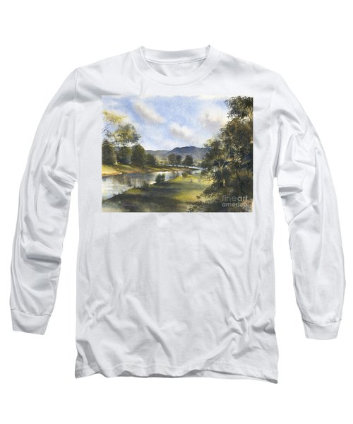 Long Sleeve T-Shirt featuring the painting Winter In The Bellinger Valley by Sandra Phryce-Jones