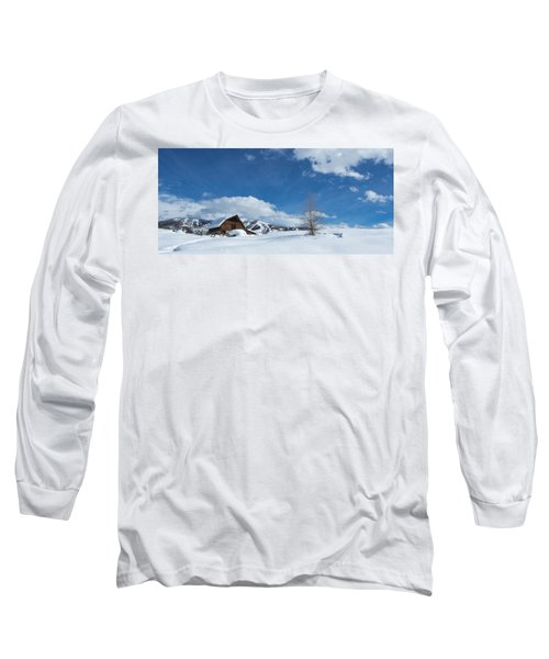 Winter In The Rockies Long Sleeve T-Shirt by Sean Allen