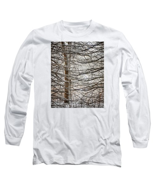 Long Sleeve T-Shirt featuring the photograph Winter In The Woods by Nikki McInnes