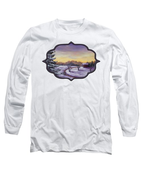 Winter In Vermont Long Sleeve T-Shirt by Anastasiya Malakhova