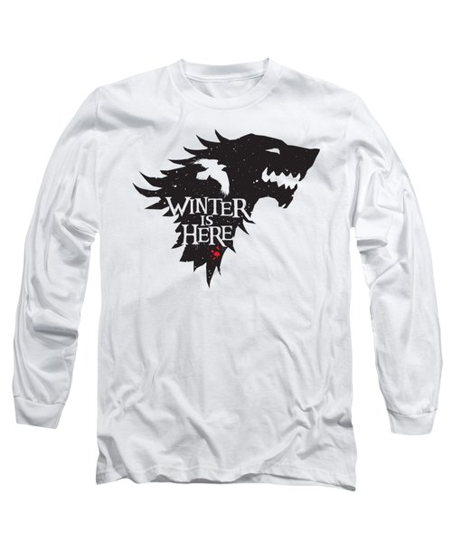 Winter Is Here Long Sleeve T-Shirt by Edward Draganski