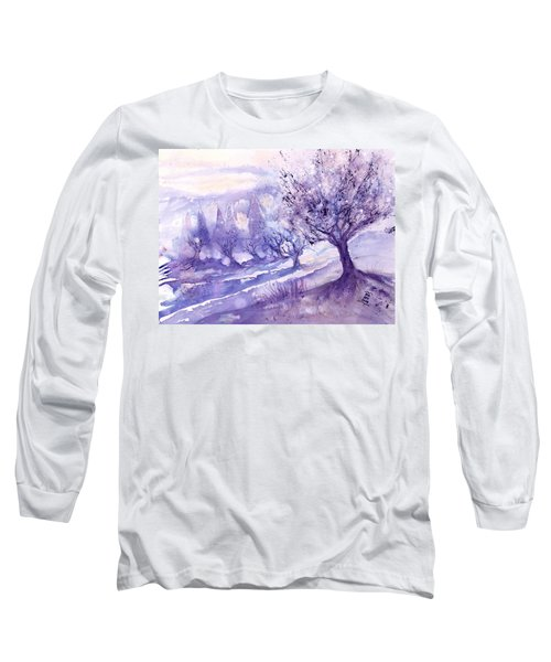 Winter Landscape Early Morning  Long Sleeve T-Shirt