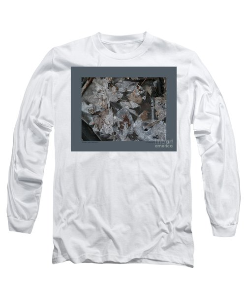 Winter Leaf Abstract-i Long Sleeve T-Shirt