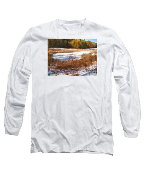 Winter Marsh Long Sleeve T-Shirt by Betsy Zimmerli