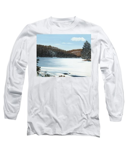 Winter On An Ontario Lake  Long Sleeve T-Shirt