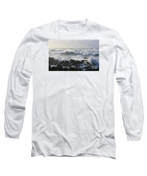 Long Sleeve T-Shirt featuring the photograph Winter Sea by Jeanette French