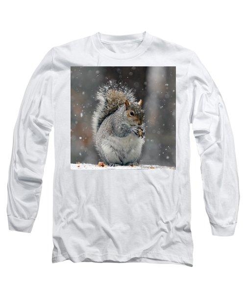 Winter Squirrel Long Sleeve T-Shirt