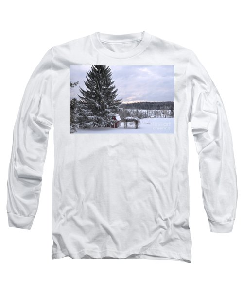 Long Sleeve T-Shirt featuring the photograph Winter Sunset - 1 by John Black