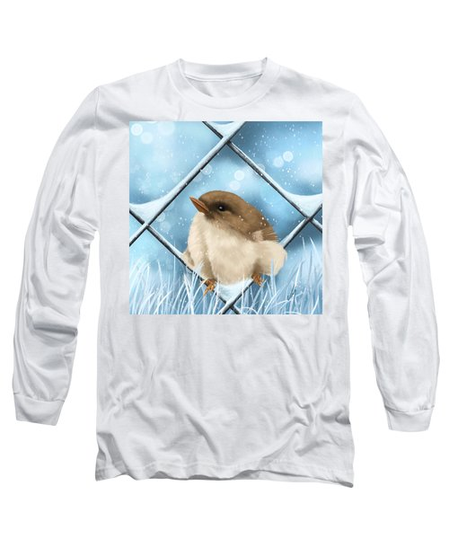 Long Sleeve T-Shirt featuring the painting Winter Sweetness  by Veronica Minozzi