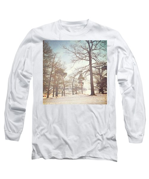Long Sleeve T-Shirt featuring the photograph Winter Trees by Lyn Randle