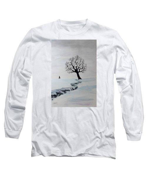 Winter Trek Long Sleeve T-Shirt by Jack G Brauer