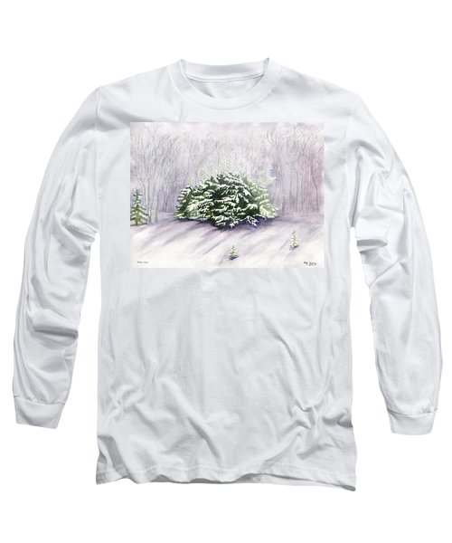 Long Sleeve T-Shirt featuring the painting Winter Wind by Melly Terpening