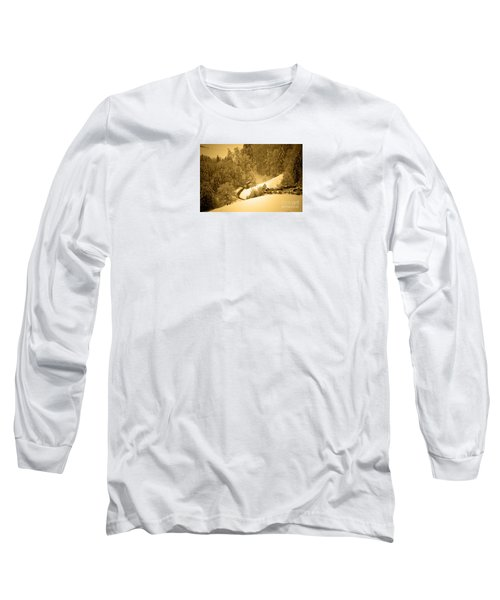 Long Sleeve T-Shirt featuring the photograph Winter Wonderland In Switzerland - Up The Hills by Susanne Van Hulst